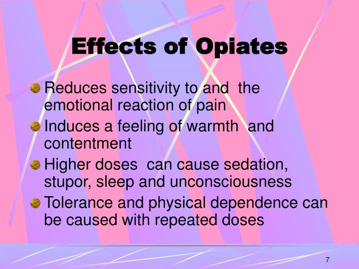 Effects of Opiates