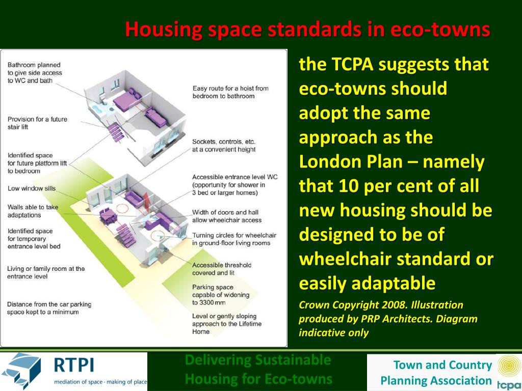 Housing space standards in eco-towns