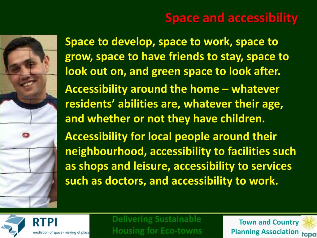 Space and accessibility