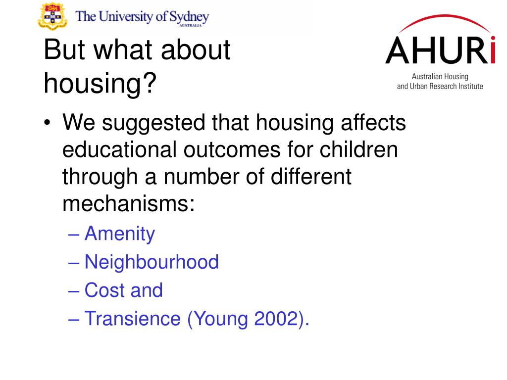 But what about housing?