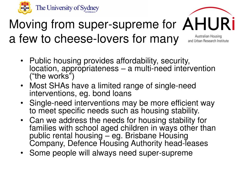Moving from super-supreme for a few to cheese-lovers for many