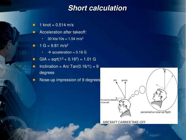 Short calculation