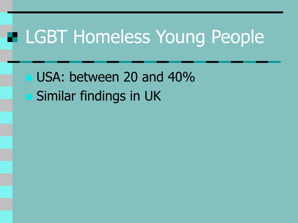 LGBT Homeless Young People