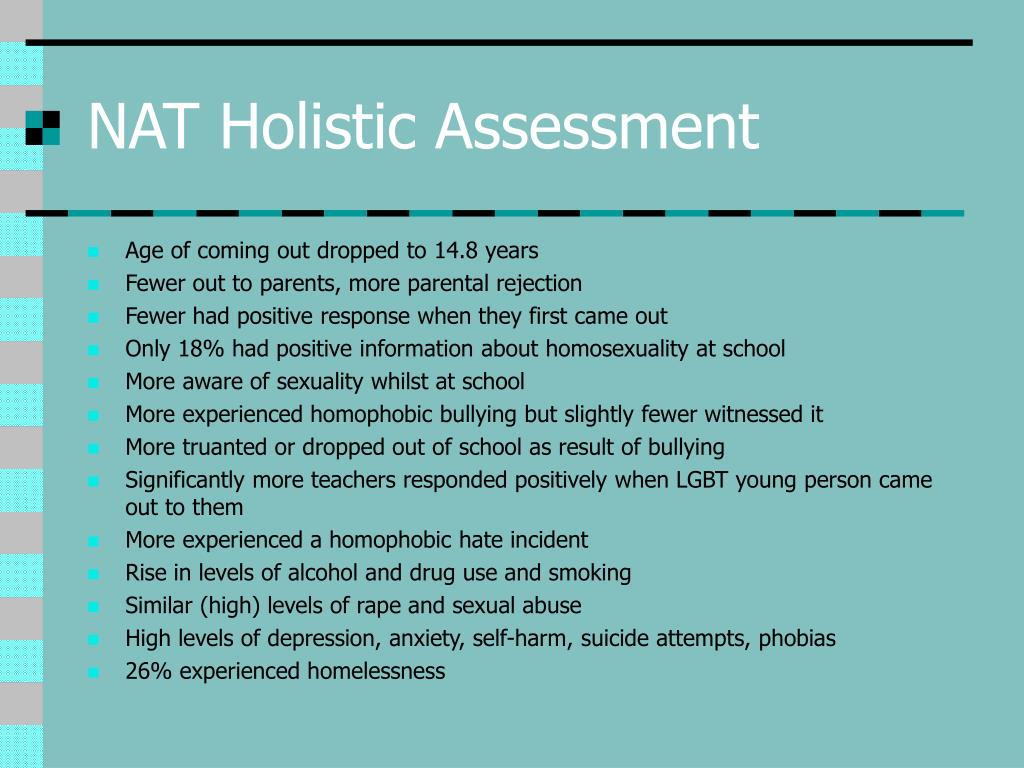 NAT Holistic Assessment