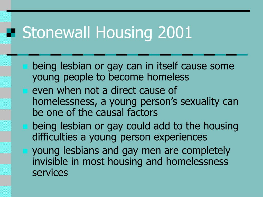 Stonewall Housing 2001