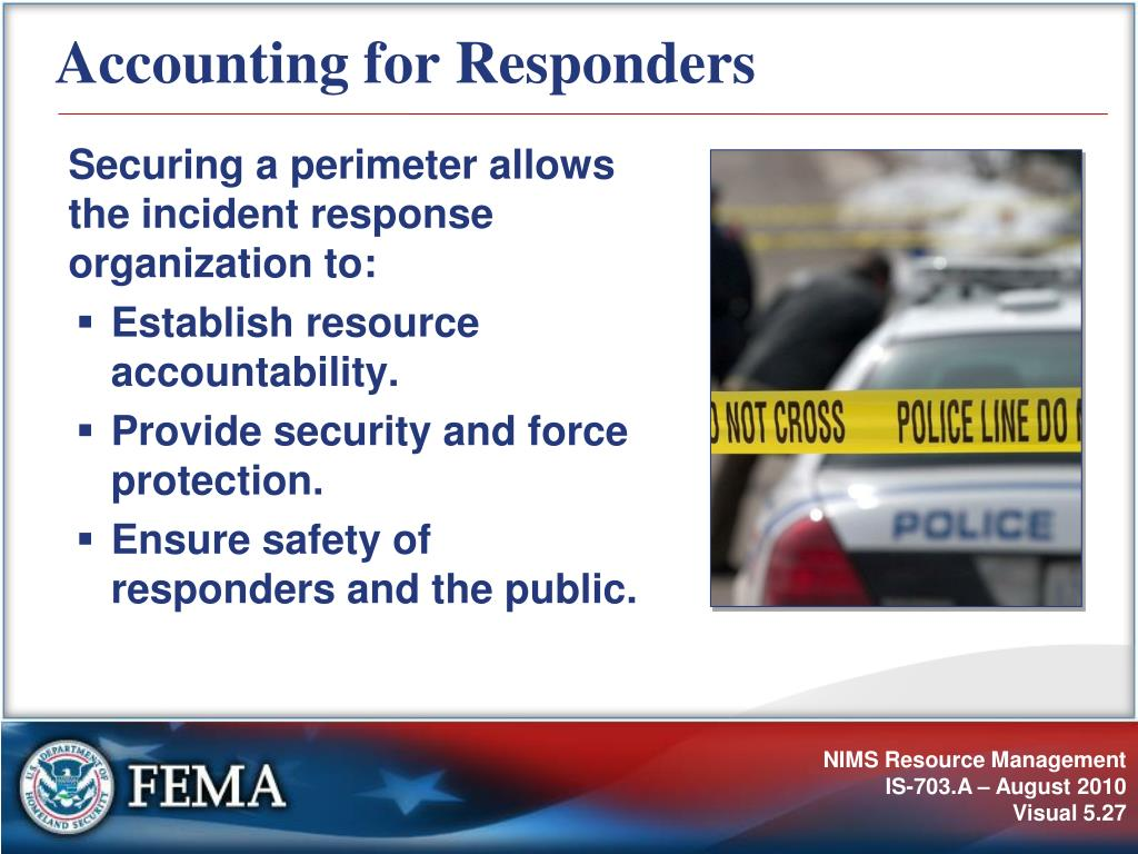 Accounting for Responders