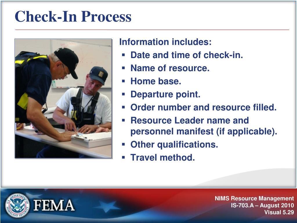 Check-In Process