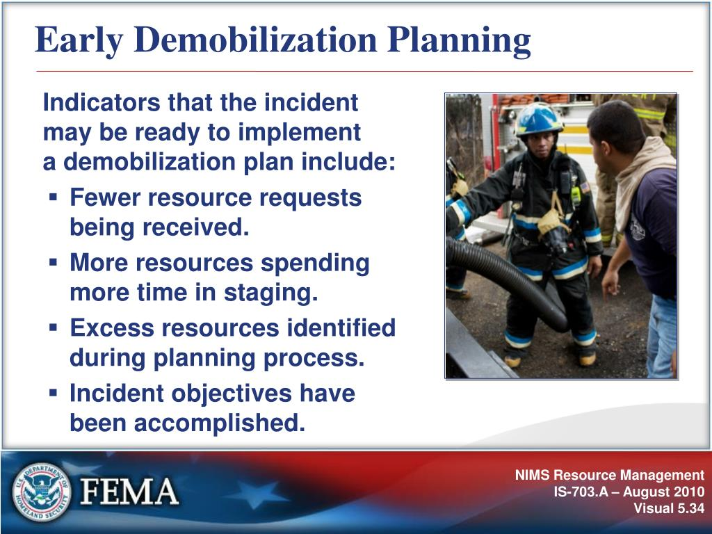 Early Demobilization Planning