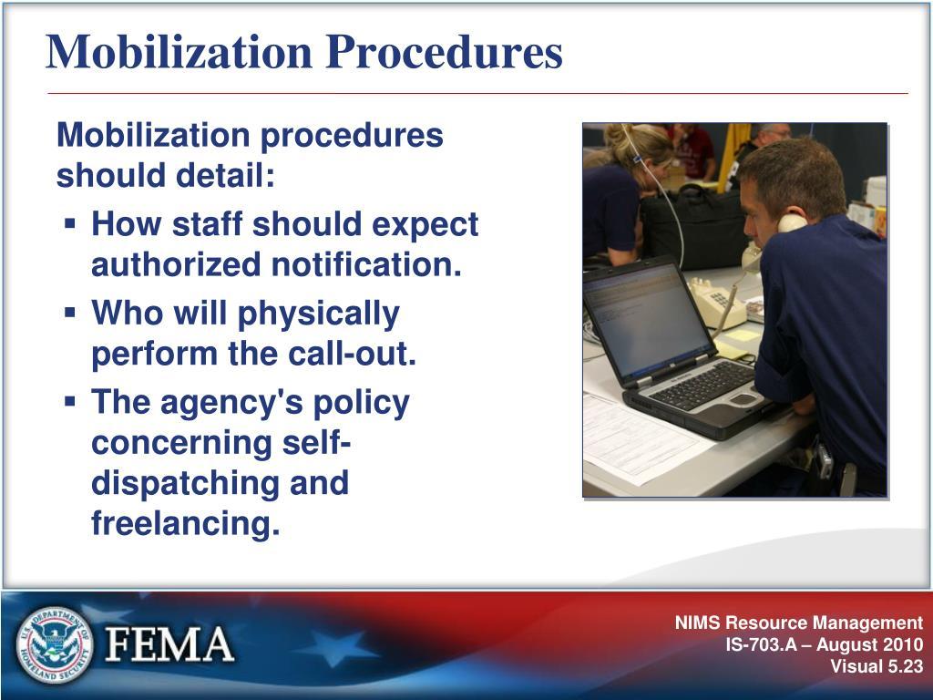 Mobilization Procedures