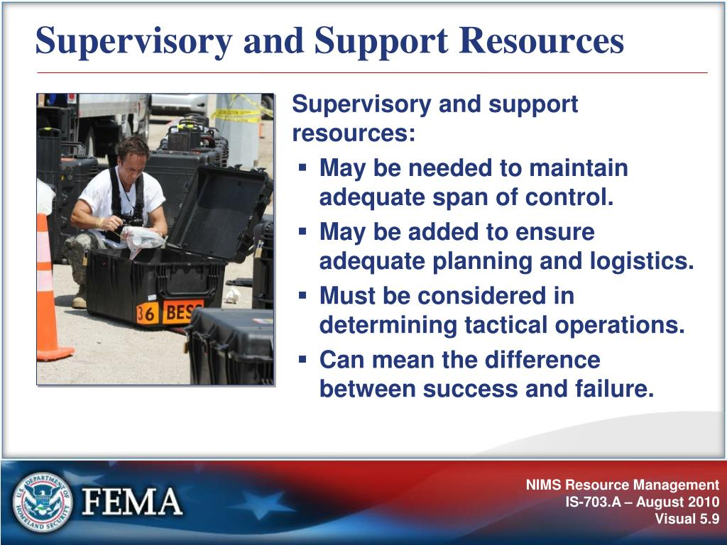 Supervisory and Support Resources