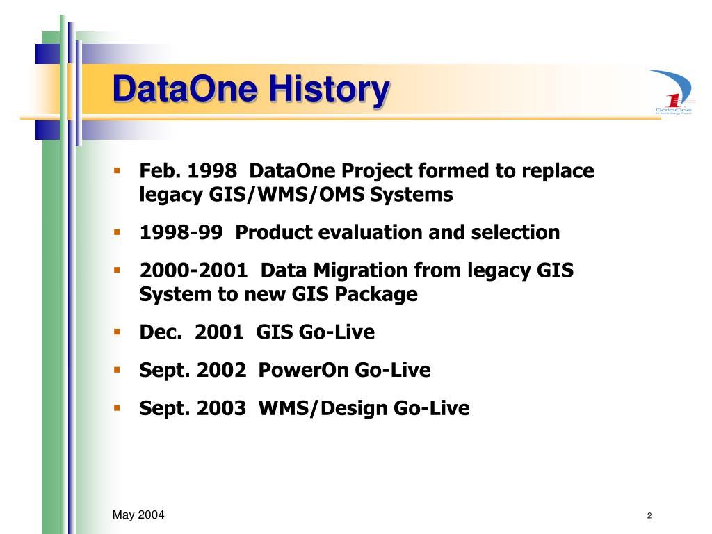 DataOne History