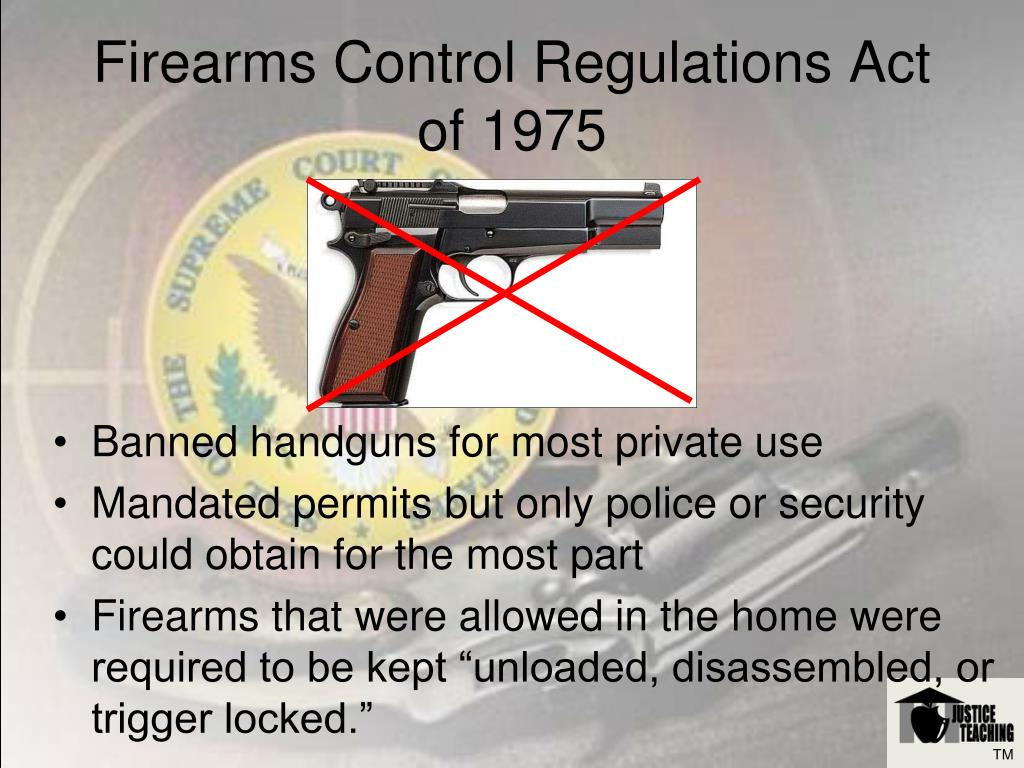 Firearms Control Regulations Act of 1975