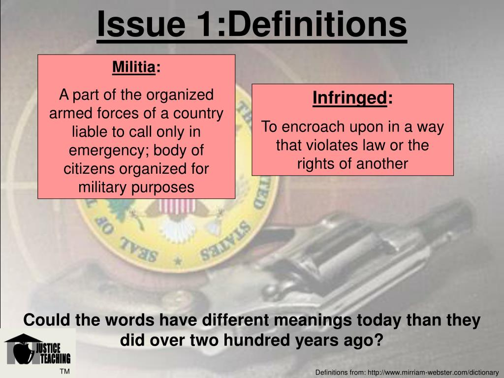 Issue 1:Definitions