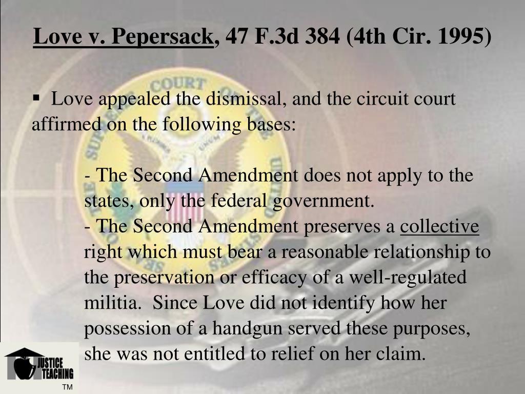 Love v. Pepersack