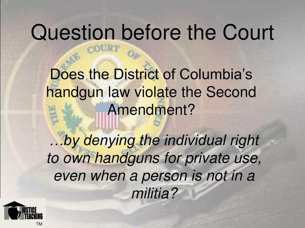 Question before the Court