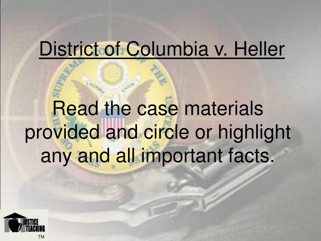 Read the case materials provided and circle or highlight any and all important facts.