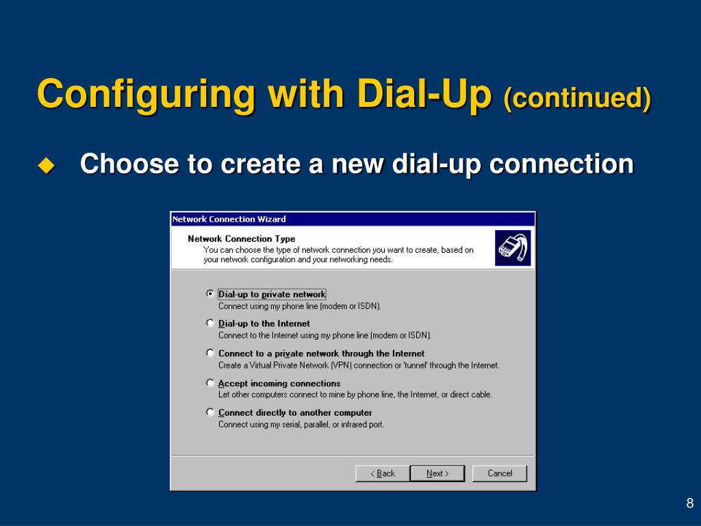 Configuring with Dial-Up