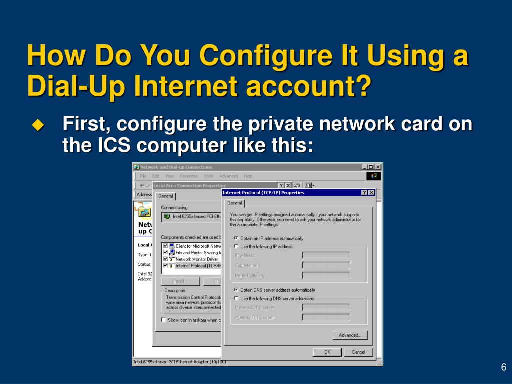 How Do You Configure It Using a Dial-Up Internet account?