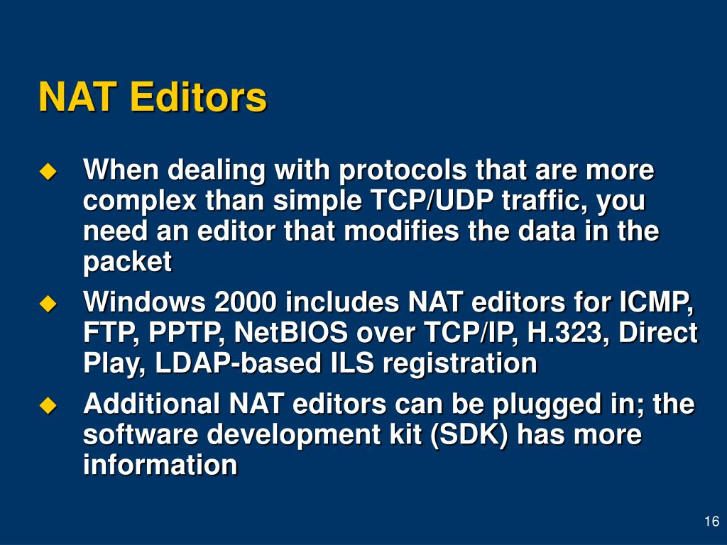 NAT Editors