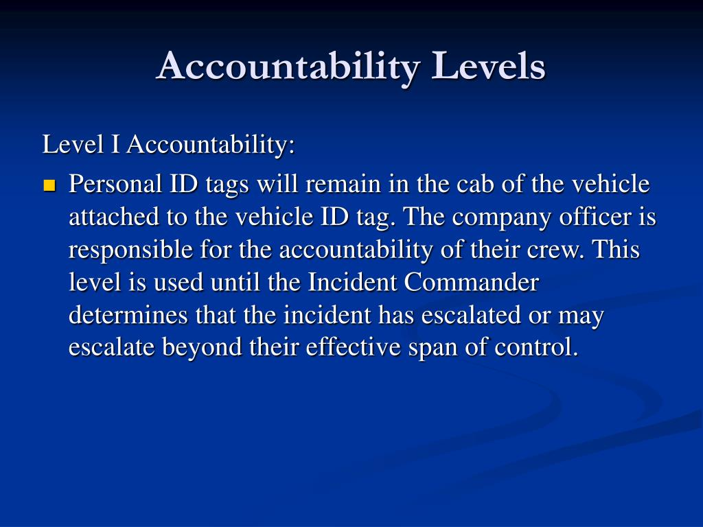 Accountability Levels