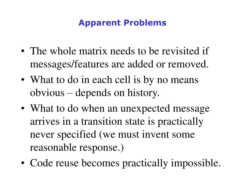 Apparent Problems