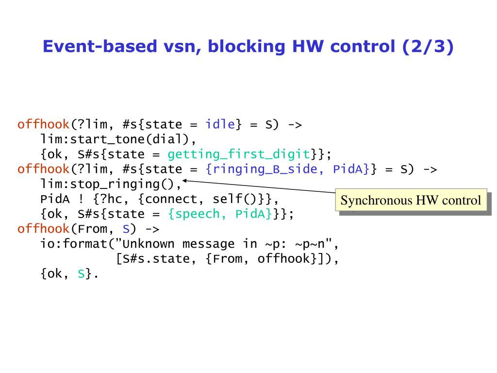 Event-based vsn, blocking HW control (2/3)