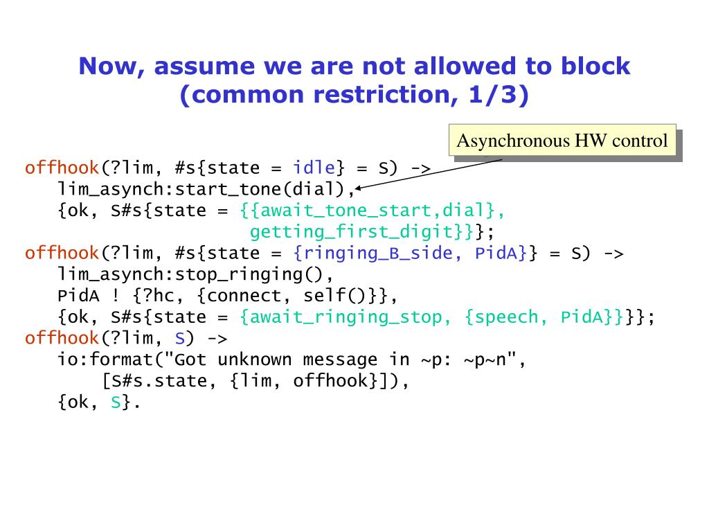 Now, assume we are not allowed to block (common restriction, 1/3)