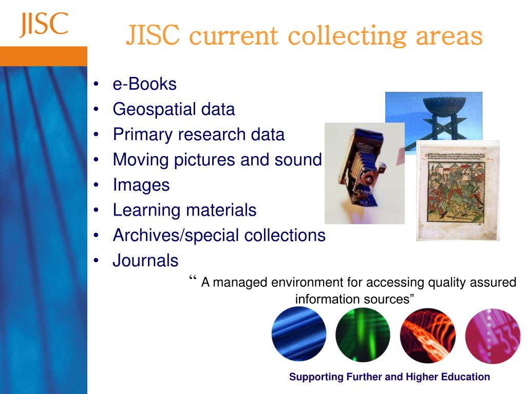 JISC current collecting areas