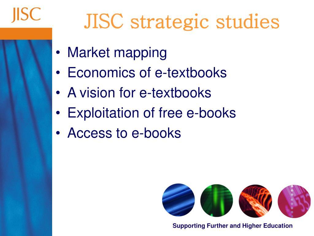 JISC strategic studies