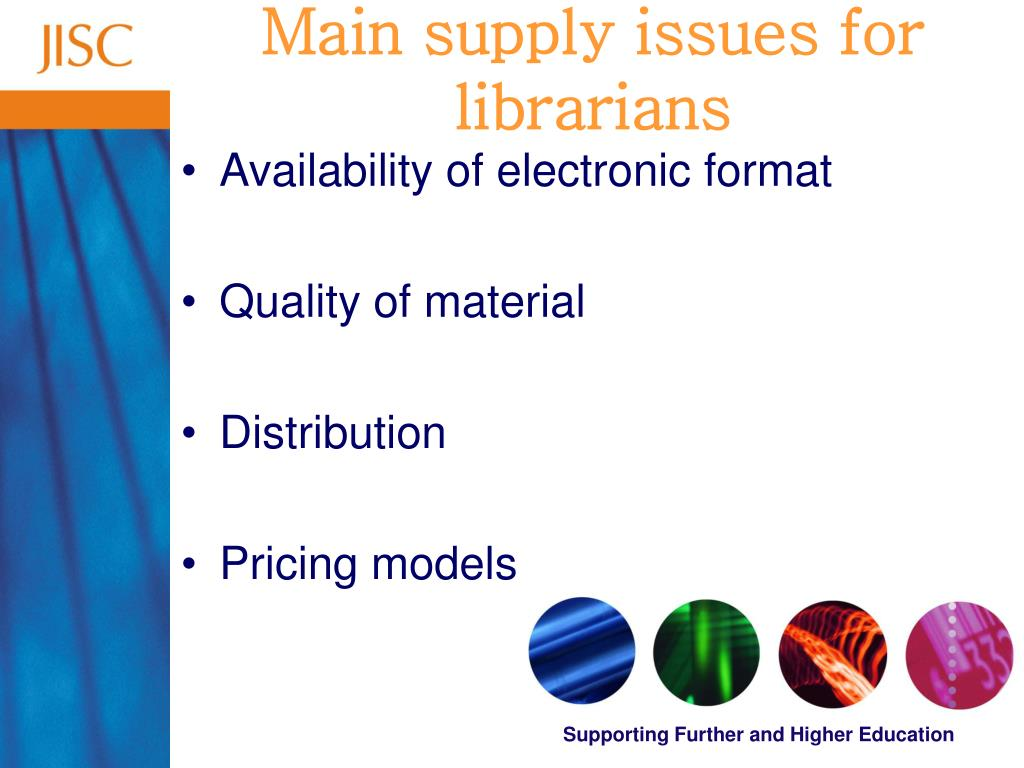 Main supply issues for librarians