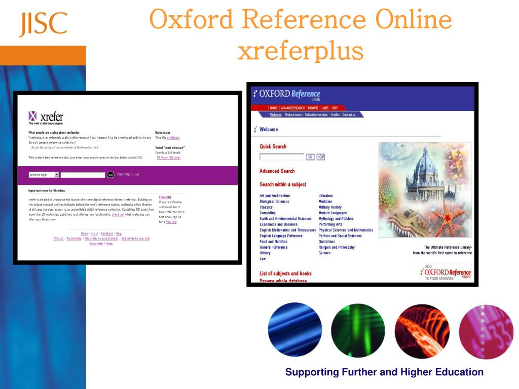 Oxford Reference Online xreferplus