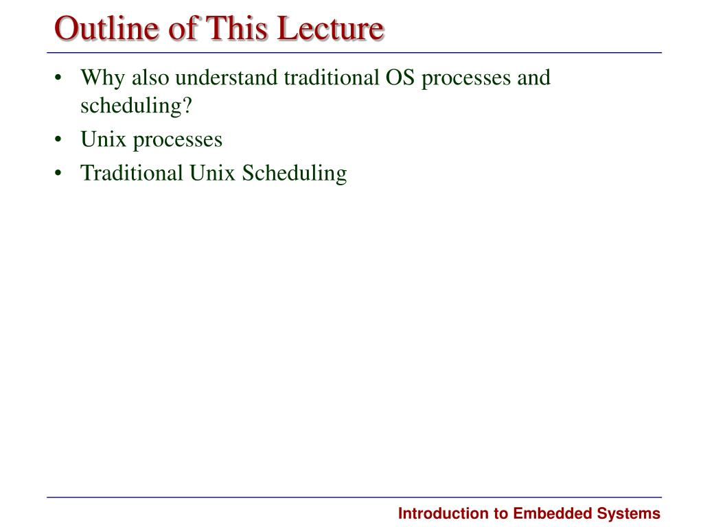 Outline of This Lecture