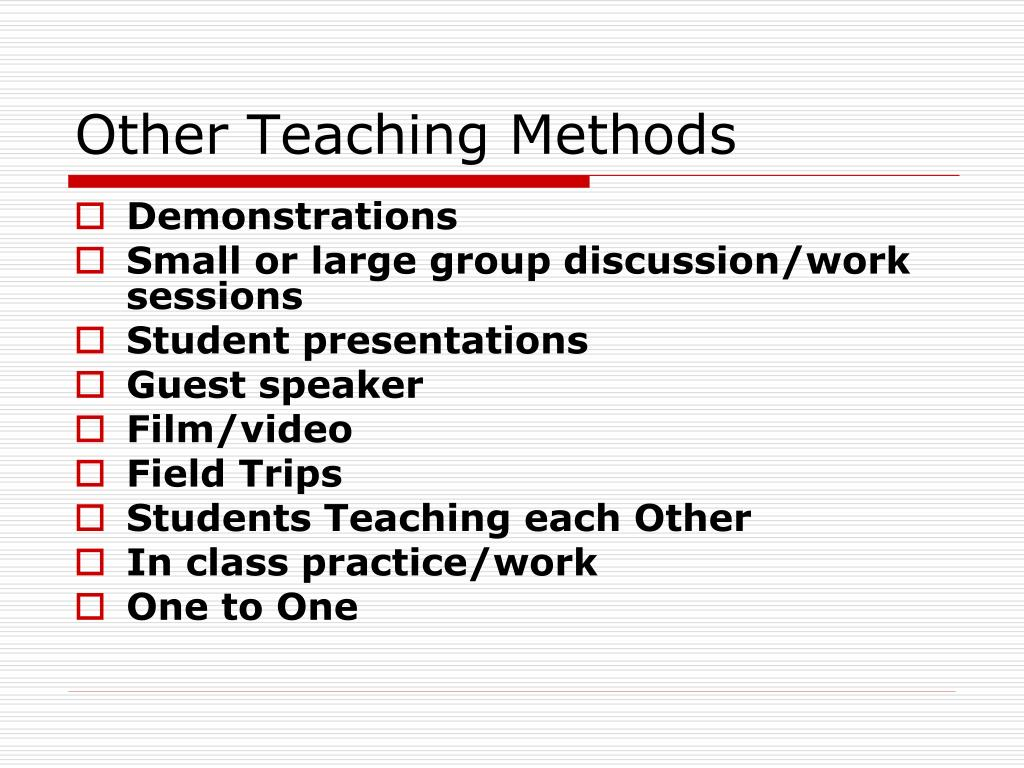 Other Teaching Methods