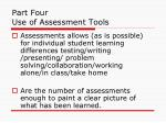 part four use of assessment tools21