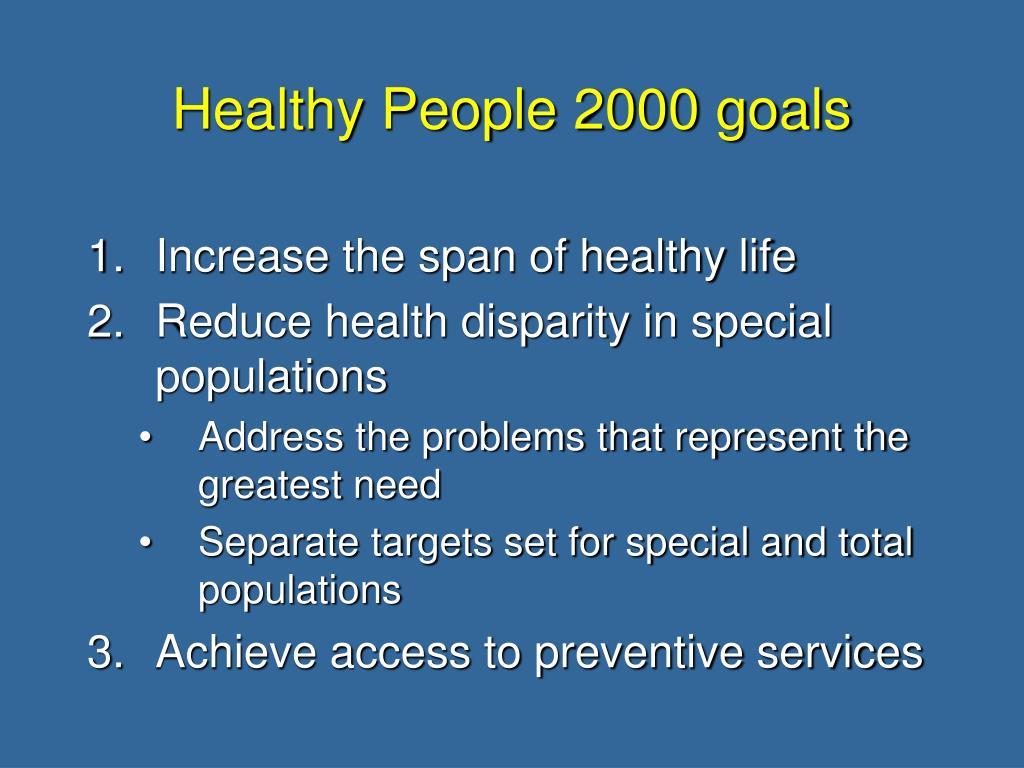 Healthy People 2000 goals
