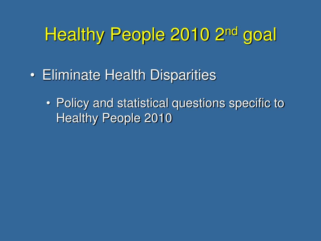 Healthy People 2010 2