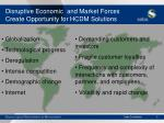 disruptive economic and market forces create opportunity for hcdm solutions