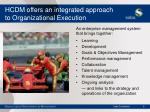 hcdm offers an integrated approach to organizational execution