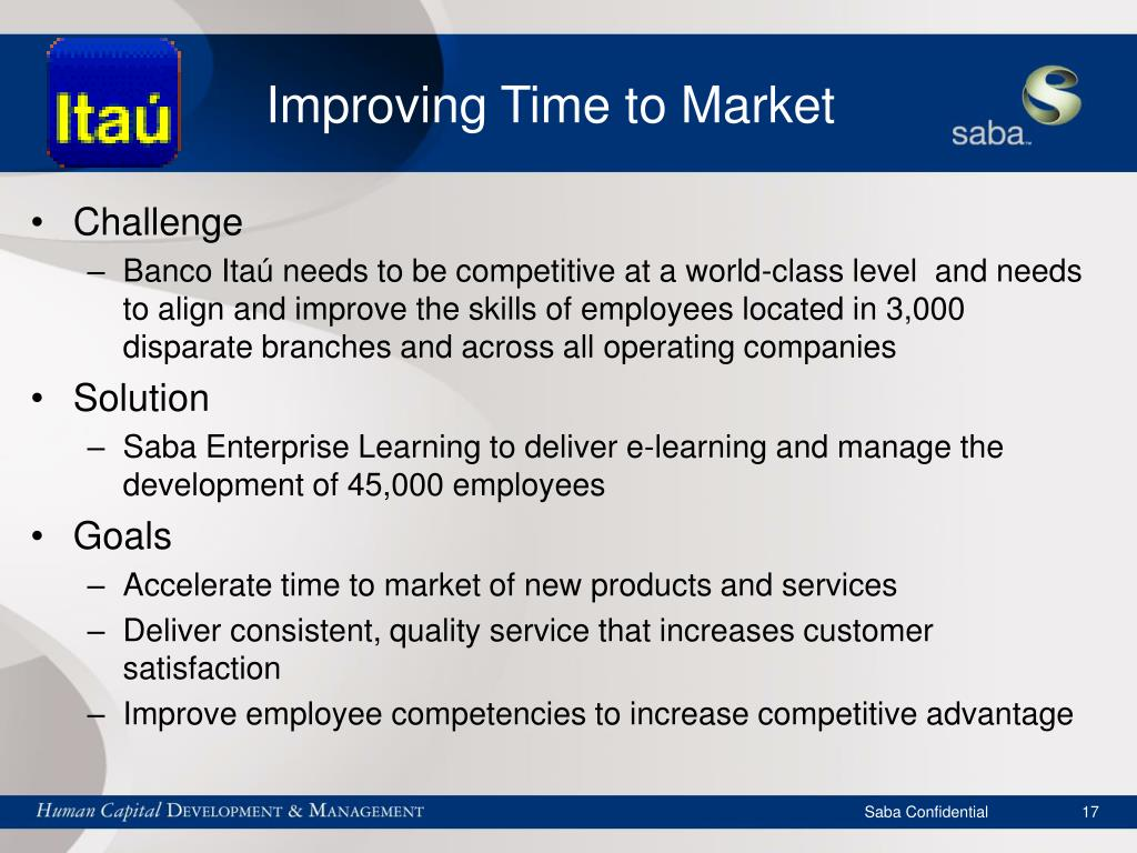 Improving Time to Market