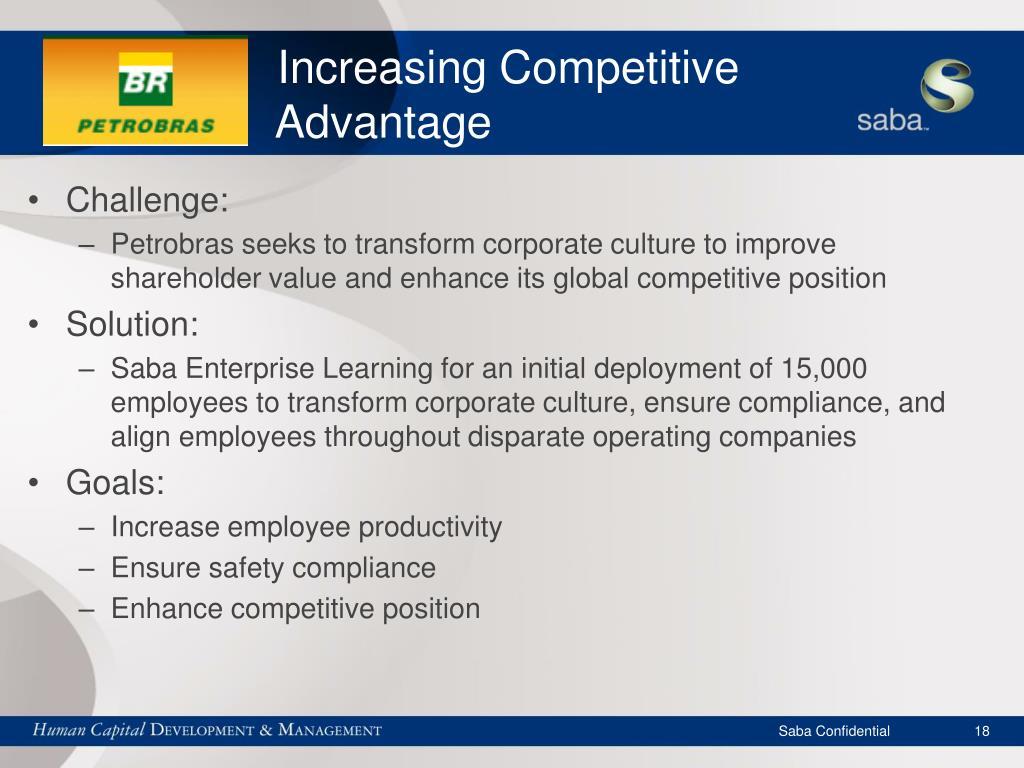 Increasing Competitive    Advantage