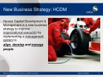 new business strategy hcdm