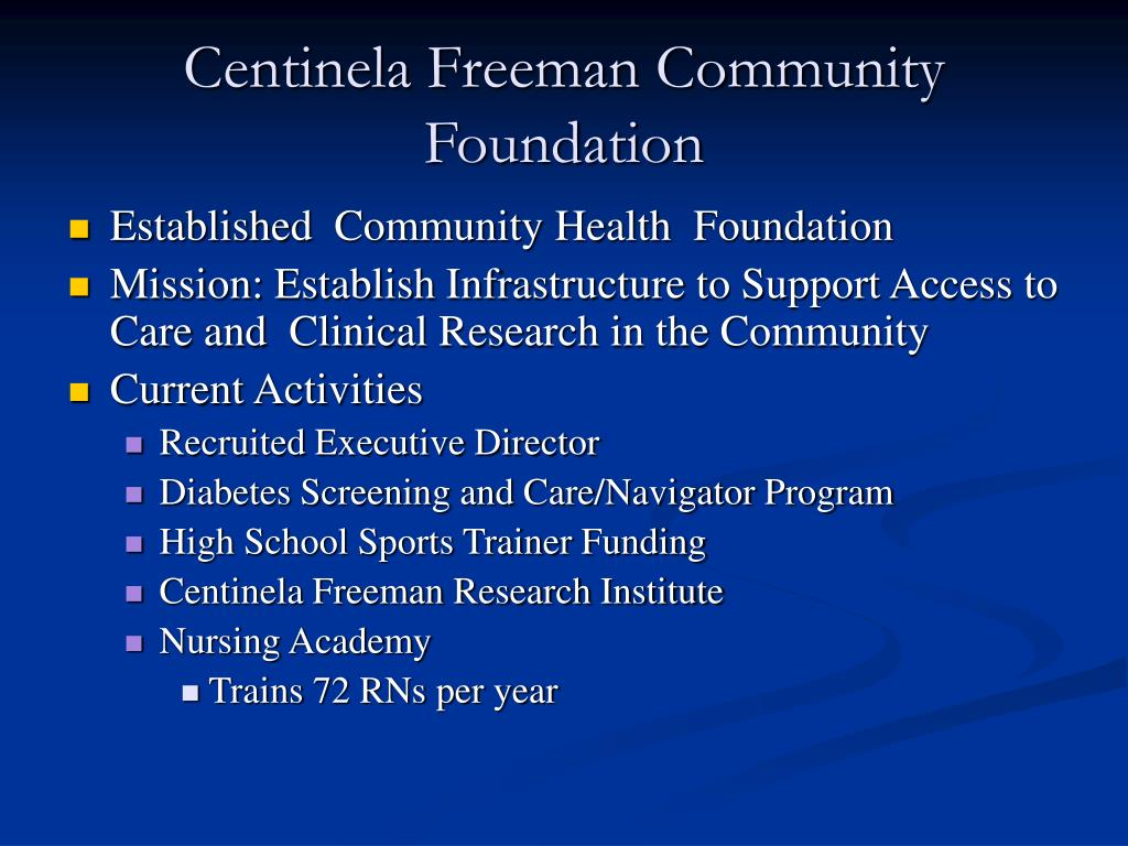 Centinela Freeman Community Foundation