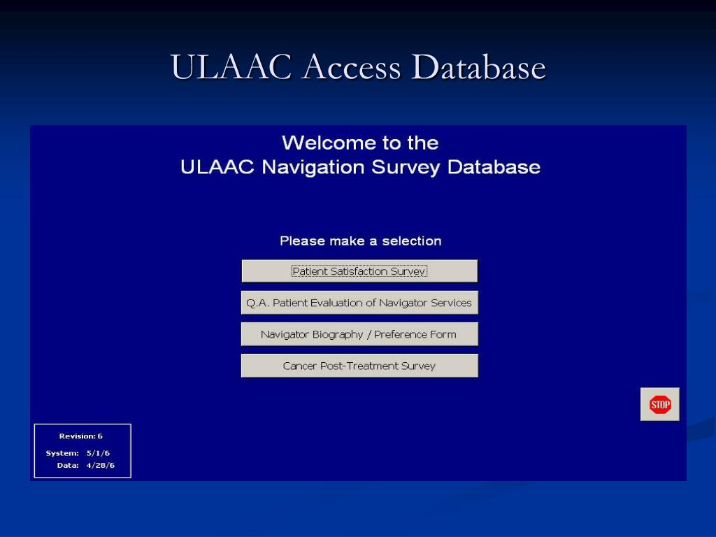 ULAAC Access Database