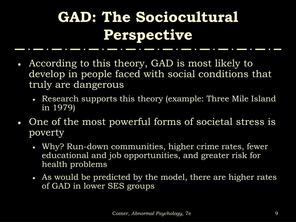 GAD: The Sociocultural Perspective