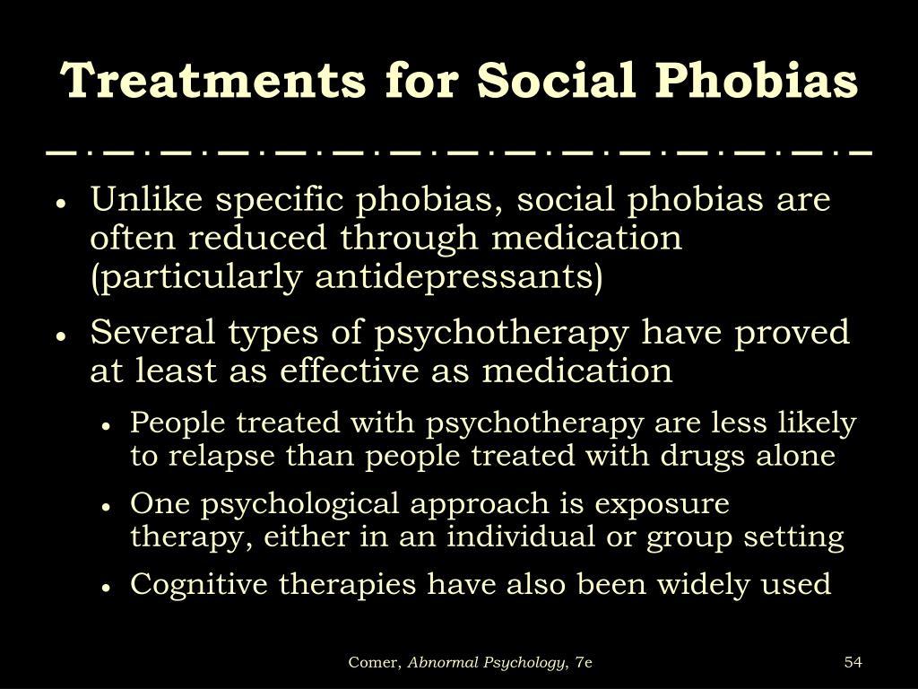 Treatments for Social Phobias