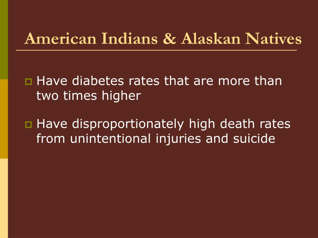 American Indians & Alaskan Natives