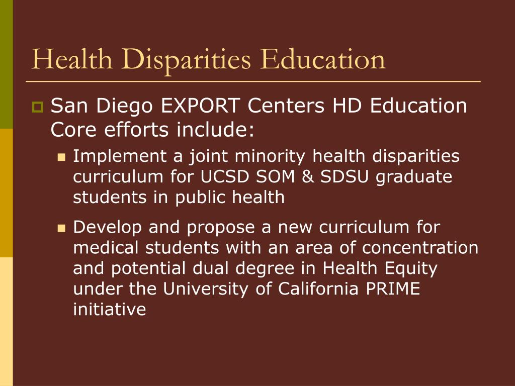 Health Disparities Education