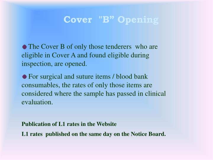 "Cover  ""B"" Opening"