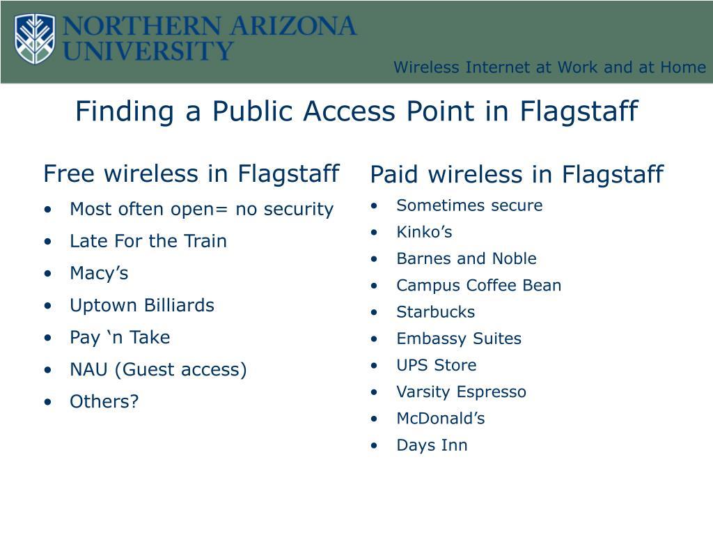 Free wireless in Flagstaff