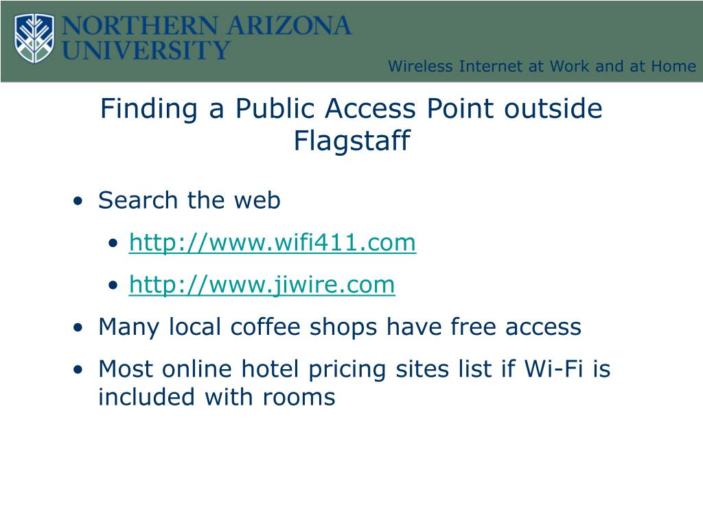 Finding a Public Access Point outside Flagstaff